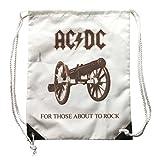 Rucksack AC/DC, Rucksack Musik, logo für Diese about the rock mit Wirkung vintage