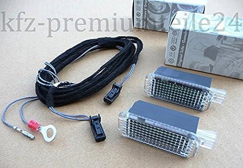 Original VW Golf 7 LED Fußraumbeleuchtung zur Nachrüstung vorn GTI R20 Alltrack LED Leuchten Kabel Fußraum