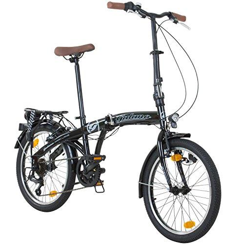Galano 20 Zoll Parklane Camping Klapp Fahrrad 6 Gang Shimano Licht Klapprad Faltrad -
