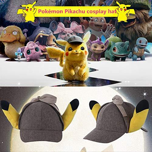 Imagen de yk pokémon detective pikachu hat fairy treasure dream cos dress up ear hat cute funny sunshade sun hat alternativa