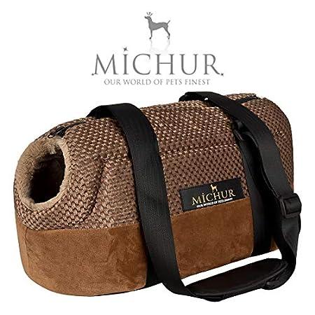 MICHUR Mia, Hundetransportbox, Katzentransportbox, Hundetragetasche, Handtasche, Tragetasche, Braun, in verschiedenen Größen lieferbar!