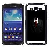 WonderWall Carta Da Parati Immagine Custodia Rigida Protezione Cover Case Per Samsung Galaxy Grand 2 SM-G7102 SM-G7105 - tailleur cravatta collare bianco nero