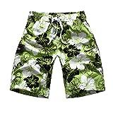 Niseng Homme Fleurs Impression Plage Shorts Séchage Rapide Board Shorts Surf Maillot De Bain