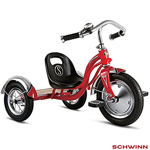 Schwinn 30.5 cm 5 Adjustable Seat Super Low Rider Position Classic Retro Design Roadster Trike for Kids 3 Years Up in
