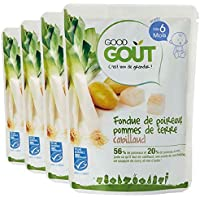 Good Goût - BIO - Fondue de Poireaux aux Pommes de Terre Cabillaud dès 6 Mois 190 g - Lot de 4