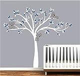 Bdecoll 3 Koala wandsticker für kinderzimmer-Wandsticker wohnzimmer modern-wandtattoo baum (Blue White)