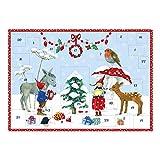 Grätz Verlag Bilderadventskalender für Kinder DIN A3 2018, Weihnachtskalender aus Papier Pippa und Pelle mit Tieren, ungefüllt, Mädchen, Jungs, Familie, Advent, Weihnachten, XXL