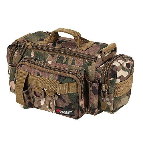 Boot Bag Box (lixada Multifunktional Angeln Fishing Tackle Bag Taille Tasche Köder Box Tasche Boot Tasche, CP Camouflage)