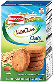 Britannia Nutrichoice Oats Cookies 150 gm