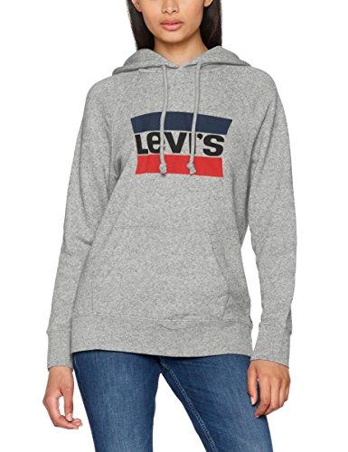 Levi's Damen Kapuzenpullover Batwing Hoodie/Sportswear Hoodie Smokestack Htr 0000, grau, Large