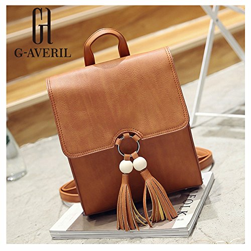 G-AVERIL GA1167-B, Borsa a zainetto donna nero Black Brown