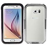 iprotect Samsung Galaxy S6 Edge Wasserdichtes Outdoor Case Schutzhülle in Schwarz