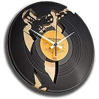 DISCOCLOCK   DD035GB   JAZZ   Wanduhr Aus Vinyl Schallplattenuhr Mit  Trompete Jazz Musiker Motiv