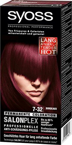 Syoss Haarfarbe, 7-32 Bordeaux, 3er Pack (3 x 115 ml)