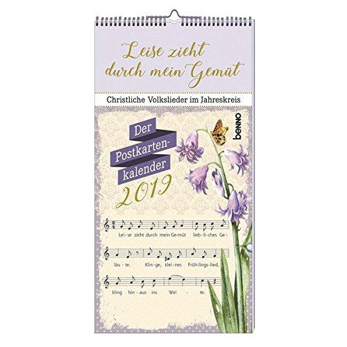 Leise zieht durch mein Gemüt 2019: Christliche Lieder im Jahreskreis - Der Postkartenkalender