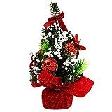 Gosear Mini Natale Albero tavolo Decorazione Natale Ornamento Decor per Casa Ufficio Negozio Finestra Natale Partito Rosso