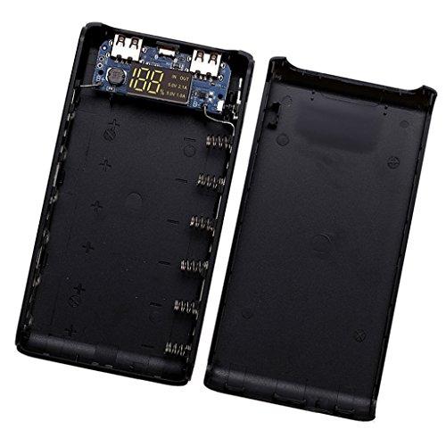 Baoblaze 1 Paar (Oben/Unten) Dual USB Energienbank Power Bank Fall Kit Akku DIY (Power Platine)