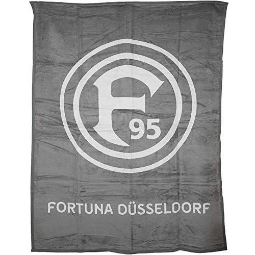 Fortuna Düsseldorf Logo Veloursdecke Decke (one Size, grau)