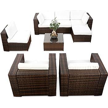 Amazon.de: erweiterbares 24tlg. Eck Lounge Gartenmöbel Set XXL ...