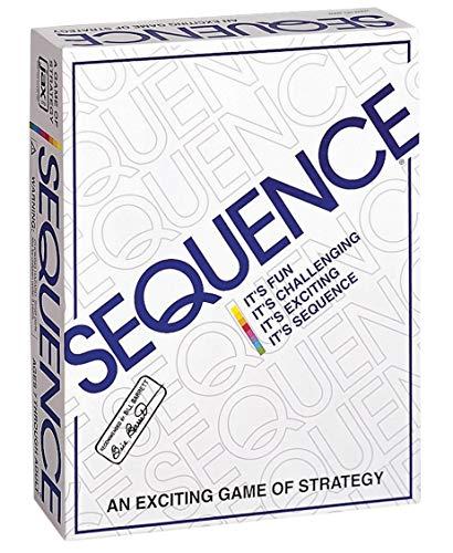 """Jax 8002 Sequence Brettspiel, weiß, 10.3"""" x 8.1"""" x 2.31"""""""