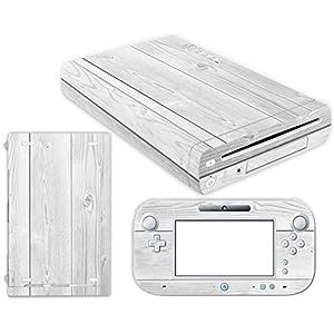 Nintendo Wii U Skin Design Foils Aufkleber Schutzfolie Set – White Wood Motiv
