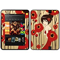 Diabloskinz Vinyl Adhesive Skin/Decal/Sticker for 7 inch Kindle Fire HD (2012) - Poppy