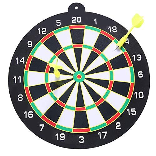 HaiQianXin 9inch hängende Dartscheibe mit zwei magnetischen Darts-Klage-runden Dart-Platten-Sicherheit für Innenspiel Keine scharfe Spitze Dartnadel & keine Dartlöcher an der Wand! (Color : Yellow)