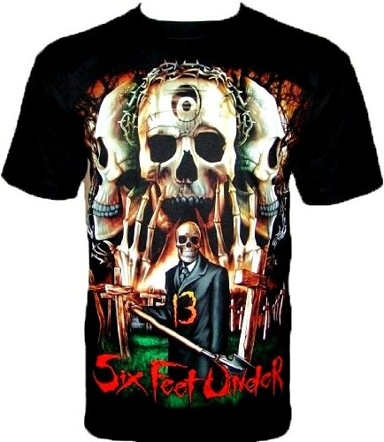 SIX FEET UNDER T-Shirt '13' maglietta Nero Gr S