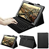 VOVIPO Zaith 10 inch 2 in 1 tablet Case -Slim Fit Folio PU Leather Case for Zaith 10 inch 2 in 1 tablet (Black)