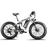 Extrbici XF800 E-Bike Mountain Bike, 1000W, 48V 13Ah 624Wh Batteria, Bici elettrica da 26 Pollici, Cambio Shimano 7 Marce, Freni Idraulici, Batteria con Porta di Ricarica USB