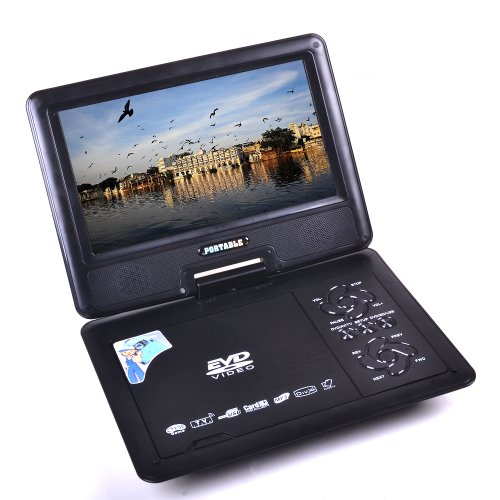 HSN New 24,9cm TFT Tragbarer DVD EVD CD Player MP3MP4Spiel SD USB Slots