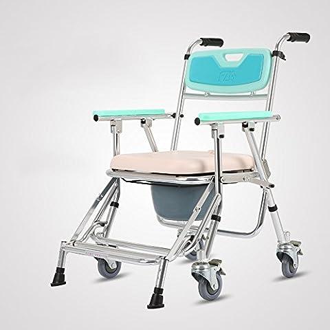 HAIZHEN Atención médica Mobile Potty Chaise Avec Roue En alliage
