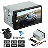 Car Stereo MP5 Player,Lacaca Double 2 Din Car Stereo MP5 Player Radio Bluetooth USB AUX + Parking Camera