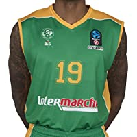 BIGSPORTS Replica Eurocup Limoges Csp Hayes 19 Maillot de Basketball Homme