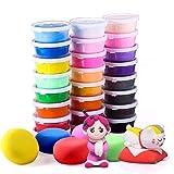 Springknete 24 Farben,Adkwse Knete Bunt Set, Kinderspielzeug Kinderknete ,Schönes Mitgebsel zum Geburtstag