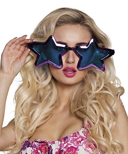 Zauberclown - Stern Jumbo Brille, Kostümzubehör, Karneval, Fasching, Violett