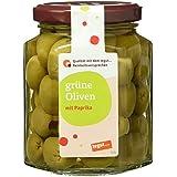 Tegut Grüne Oliven mit Paprika, 150 g