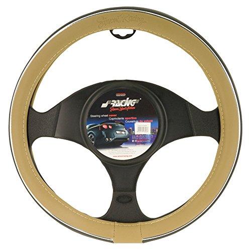 simoni-racing-sr-cvt6gr-housse-de-volant-creme-cuir-eco-gris-37-39-cm