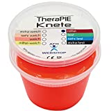 TheraPIE Knete, 454 Gramm (1 Pound), Therapie Knetmasse, Stärke Widerstand: mittel (rot) -