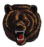 Grizzlybär Aufnäher Bügelbild