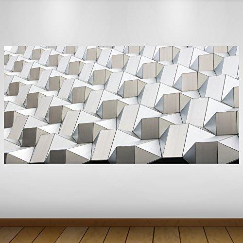 LagunaProject EXTRA GROßE White Cubes Textur Vinyl Sticker Poster Wandsticker Wandtattoo Wandbild Wanddeko -140cm x 70cm -