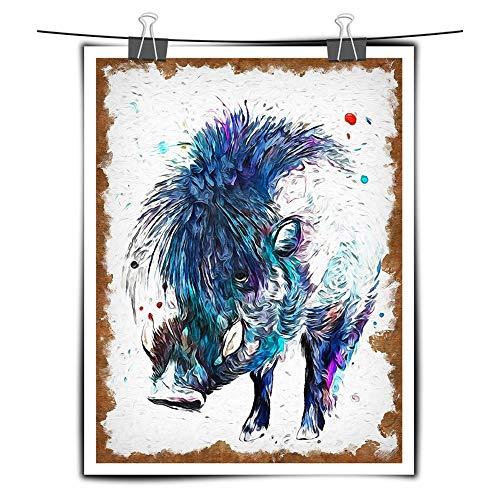 ChuangYing HD Print Nordic Home dekorationwand kleben Warze Schwein Aquarellmalerei Tierwelt Schwein...