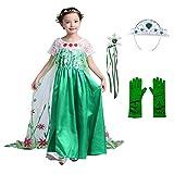 Déguisement Princesse Fille, LiUiMiY Costume Enfant Fille d'halloween Carnaval Cosplay Anniversaire Fête