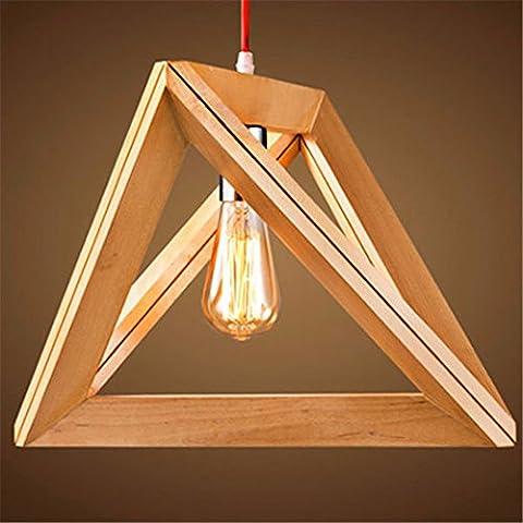 Creative Loftbar Chandelierled il carattere nordico ristoranti e lounge Ristorante Log lampadario geometrica,42*36cm