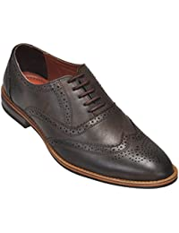 Kolapuri Centre Brown Coloured Genuine Leather Made Casual Lace UP Shoe For Men's