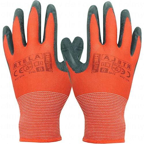 240 Paar Arbeitshandschuhe (Größe M, Rot-Schwarz). Montagehandschuhe. Sicherheitshandschuhe. Gartenhandschuhe. Mechanikerhandschuhe. Handschuhe. Strickhandschuhe.