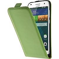 PhoneNatic Kunst-Lederhülle für Huawei Ascend G7 Flip-Case grün + 2 Schutzfolien