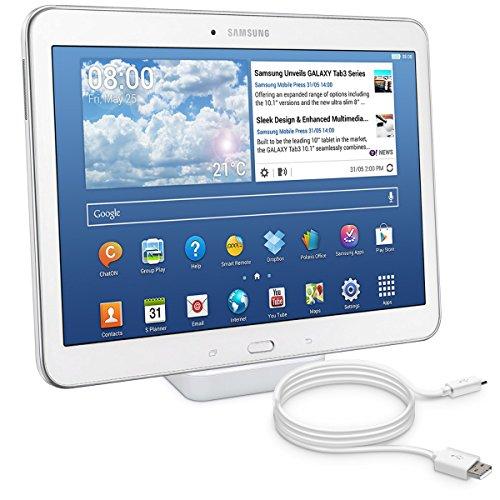 kwmobile Micro USB Dockingstation für Samsung Galaxy Tab 4 10.1 T530 / T535 - Ladestation Mikro USB Ladekabel Ladehalterung in Weiß
