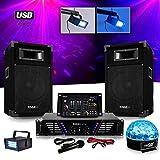 Pack Sono DJ Komplettset Verstärker + Lautsprecher 500W + Mischpult + Light sixmagic LED RGB + ledstrobe