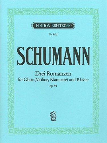 3 Romanzen op. 94 für Oboe (Violine/Klarinette) und Klavier - Breitkopf Urtext (EB 8632)